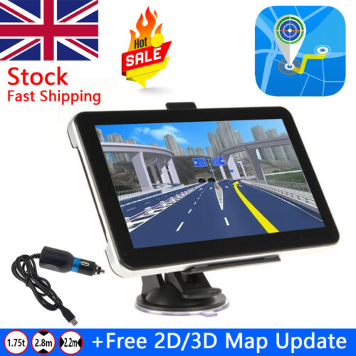 Car Parts - 7 Inch Car Truck GPS Navigation Lorry Coach HGV Navigator SAT NAV 8GB ROM
