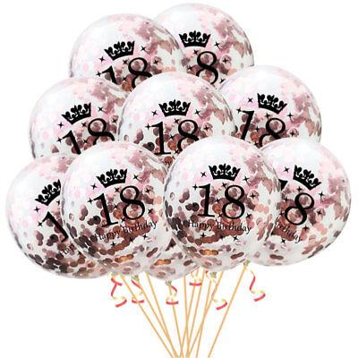 Set für 18. Geburtstag Feier Party Ballons Rosegold (Luftballons Für Geburtstage)