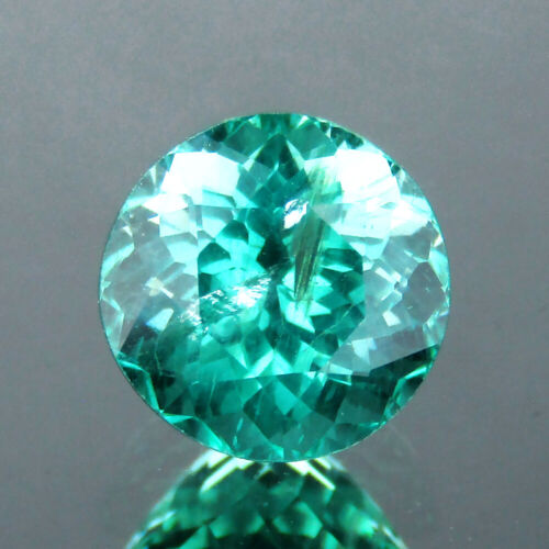 1.27CTS EXCELLENT ROUND CUT NATURAL PARAIBA GREEN BLUE APATITE 6.3MM LOOSE GEMS