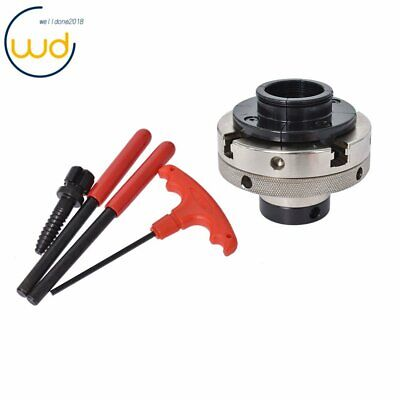 4-inch 4-jaw Self-centering Lathe Chuck Set With 1-inch X 8tpi Thread