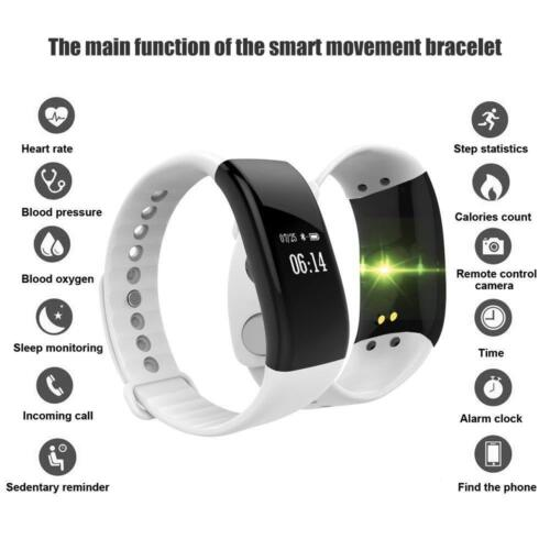 Wasserdicht Bluetooth SmartWatch Armband Uhr Handy Pulsuhr Fitness Tracker 2018