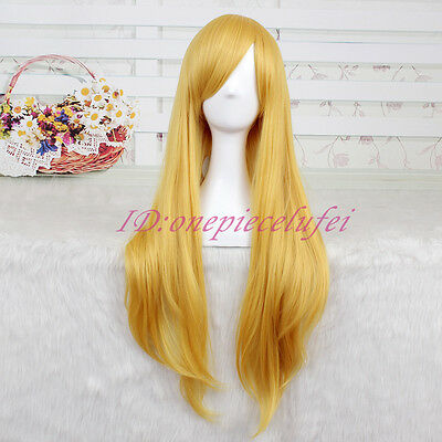 Fionna Wig (Fionna 80cm long Blonde straight Cosplay party Wig + free wig)