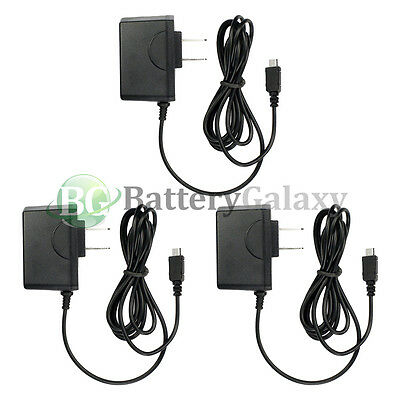 3 NEW Rapid Fast Micro USB Battery Home Wall Travel AC Charger For Cell Phone
