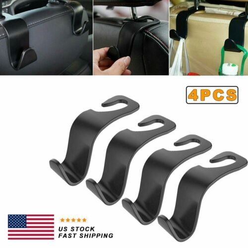 Set of 2 Big Ant Magnetic Car Headrest Hooks,Universal Car Back Seat Hook with Phone Holder,Car Headrest Hanger Hook for Bag Purse Cloth Grocery