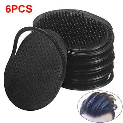 6pcs Pocket Comb Brush Hair Men Beard Mustache Palm Travel Scalp Massager IN -