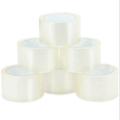 72 Roll Clear 2 Mil Carton Sealing Shipping Box Packing Tape 2 in x 55 Yards