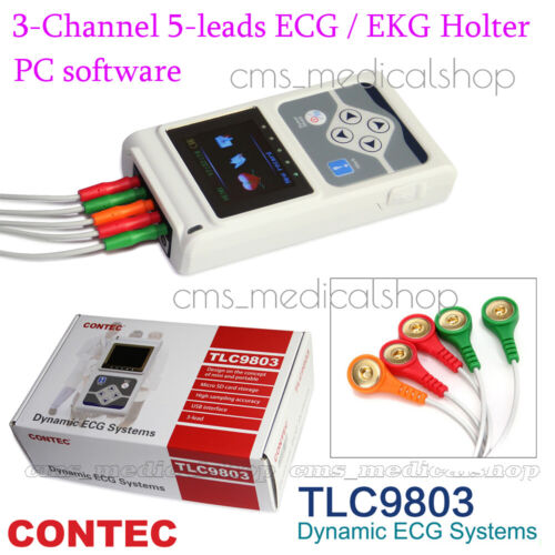 CONTEC 3 Channel Holter ECG System,PC software 24 hours recorder,FDA/CE approved