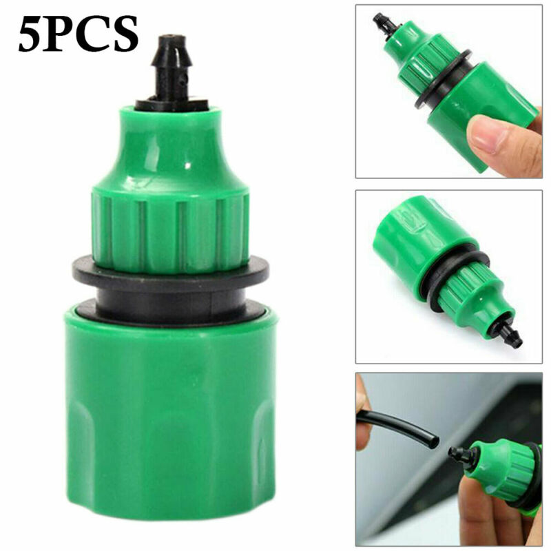 Plastic Garden Water Hose Quick Connector Micro Irrigation Adapter Connector New