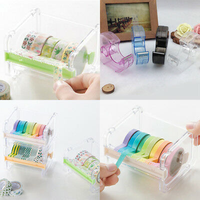 Quality Practical New Tape Dispenser Desktop Cutter Washi Roll Holder