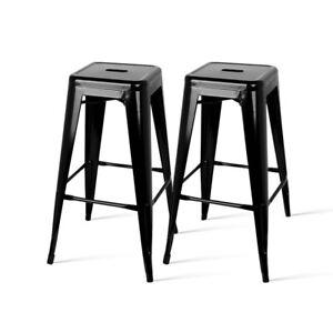 2xMetal Steel Bar Stool Replica Xavier Pauchard Cafe Home Kitchen Bar Chair 76cm