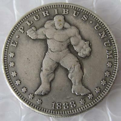 US Hobo 1888 Morgan Dollar HULK Marvel Movie Coin