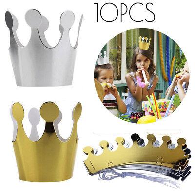 10Pcs Kids Adult Birthday Hats Cap Crown Prince Princess Party Decoration Paper (Adult Birthday)
