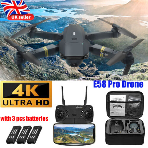 Drone X Pro WIFI FPV 4K HD Camera 3 Batteries Foldable Selfie RC Quadcopter Gift
