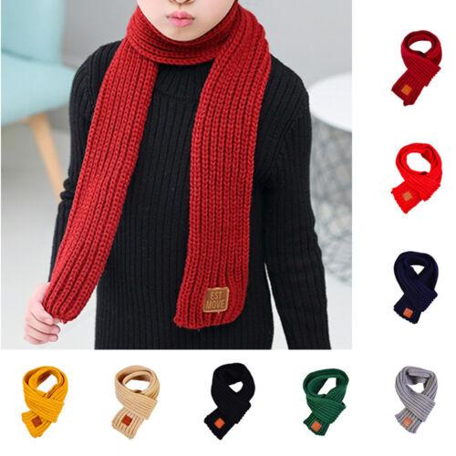 Kids Boys Girls Outdoor Warm Scarf Knitting Wraps Neck Warme