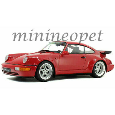 SOLIDO S1803402 1990 PORSCHE 911 964 TURBO 3.6 1/18 DIECAST MODEL CAR RED