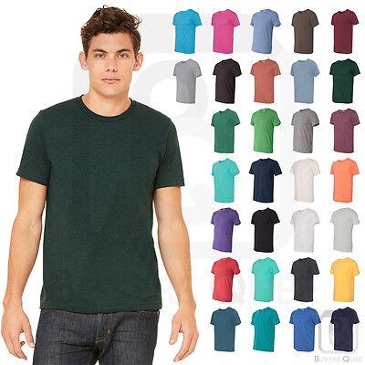 Bella Tee Shirts (Bella + Canvas Tri Blend Short Sleeve Tee Modern Fit Soft Crew Neck T-Shirt 3413 )