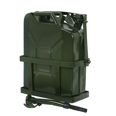 Jerry Can 5 Gallon 20L Gas Gasoline Fuel Army NATO Military Metal Tank Holder Air Intake & Fuel Delivery