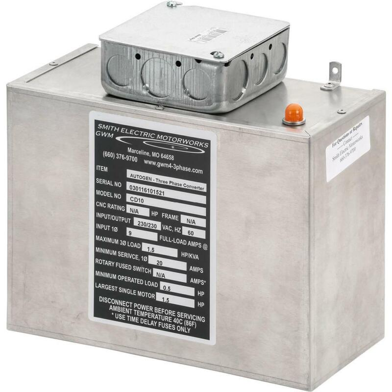 Grizzly G5840 Static Phase Converter - 1/2 to 1-1/2 HP