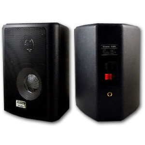 Acoustic Audio 151B Indoor Outdoor 2 Way Speakers 600 Watt Black Pair New