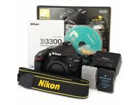 Nikon D3300 DSLR shutter count 2203 mint condition (Body Only)