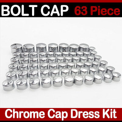 Chrome Bolt Toppers Caps - 63 Piece Chrome Toppers Bolt Caps Nut Cover Kit for 2004-2015 Harley Sportster