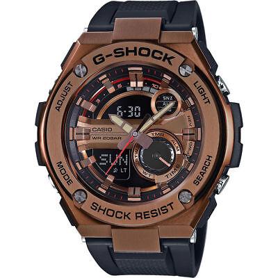 Casio Men's G-Steel GST210B-4A Super Illuminator Quartz Rose Gold 52.5mm Watch