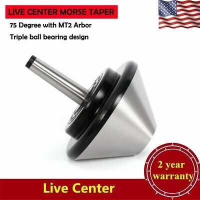 Mt2 Bull Nose Live Center Arbor Bearing Center 75 Degree 120mm Large Diameter