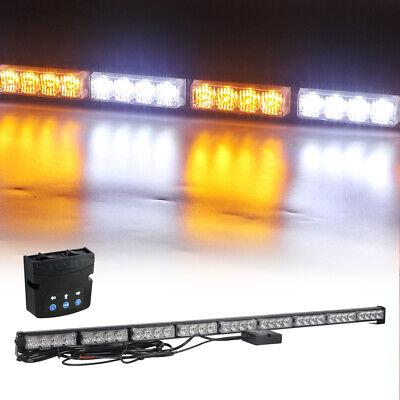Emergency Warning Led Traffic Advisor Strobe Light Bar Amber White For Vehicles