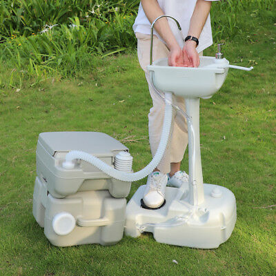 Eco-friendly Portable Hand Washing Sink Faucet Station With Toilet Commode Potty