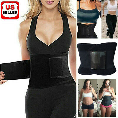 HOT Best Waist Trainer Women Sauna Sweat Thermo Yoga Sport Body Shaper Belt