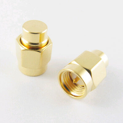 2pcs Sma Male Rf Coaxial Termination Dummy Load 2w 6.0ghz 50 Ohm Gold Plated Cap