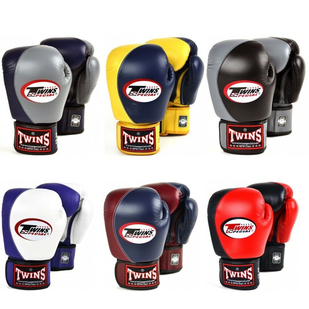 как выглядит Twins Boxing Gloves 2 Tone Muay Thai Sparring Glove Kickboxing 10oz 12oz 14oz 16 фото
