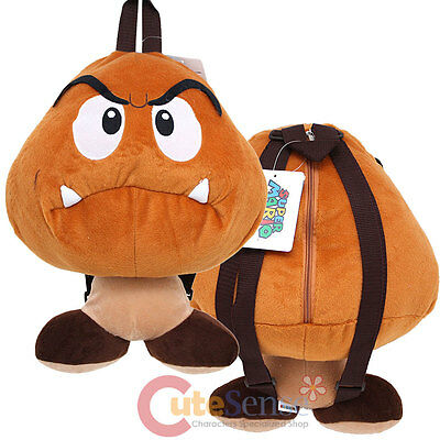 Super Mario  Goomba  Plush Doll Backpack Nintendo Mushroom Cosplay Costume Bag - Goomba Costume