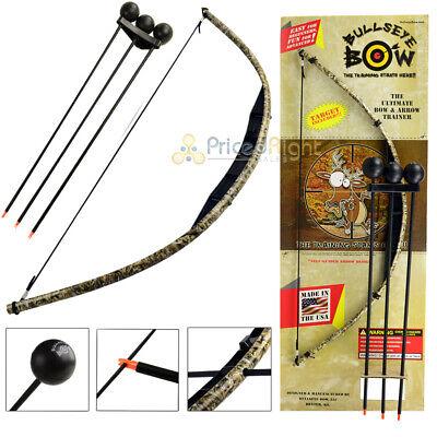 Kids Bow and Arrow Set Beginner Archery Toy Bullseye Black Camo Training Kit