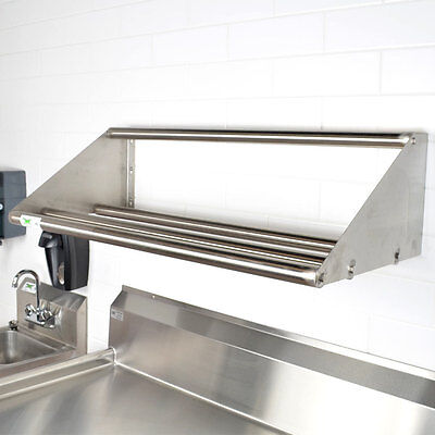 42 Wall Mount Stainless Steel Glass Dish Glass Rack Shelf Commercial Dishwasher
