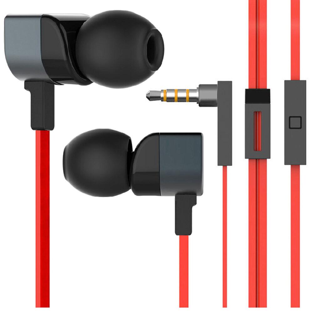 Cuffie Auricolari Anukku In Ear Universali Con Microfono Sport Corsa Mp3 Mp4