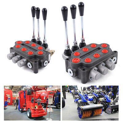 Hydraulic Directional Control Valve Tractor Loader W Joystick 3spool 25gpm New