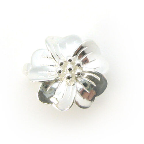 Sterling Silver Flower Clasp - Magnetic Clasp Toggle Set (sold per set)
