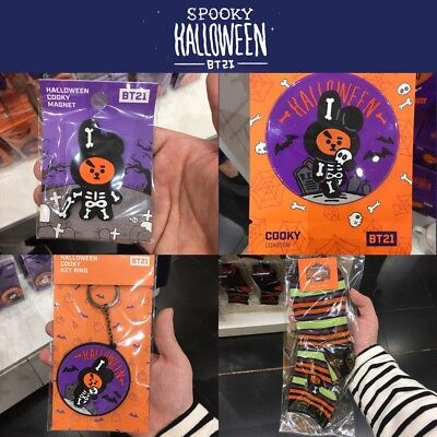 BTS BT21 Official Authentic Goods COOKY 4SET Halloween Ver with tracking Number - Hello Kitty Halloween Cookies