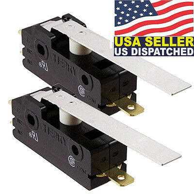 2x Cherry E13-00h Hinge Lever Snap Action 15a Micro Switch E1300h 0e13-00h