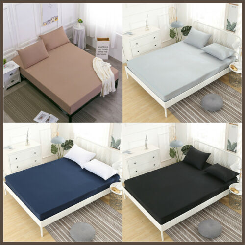 New Waterproof Mattress Protector Breathable Dust-proof Soli