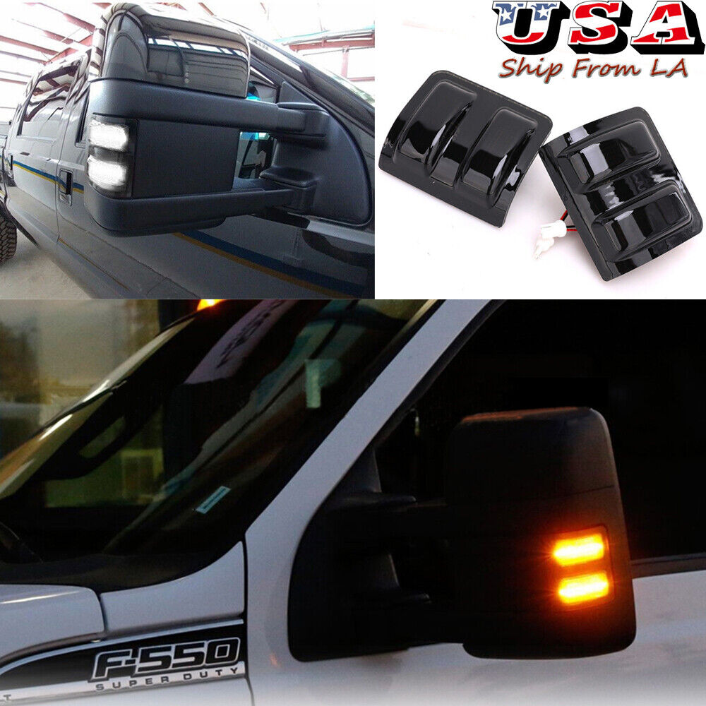 Smoked Switchback Led Side Mirror Marker Lights For 08 16