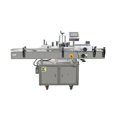Automatic Round Glass Plastic Bottle Labeler Sticker Labeling Machine For Jars