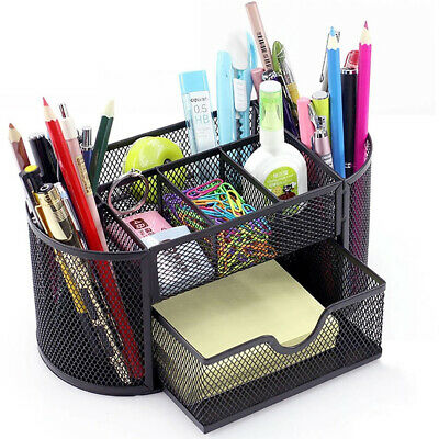 Pen Pencil Holder Storage Desktop Tray Desk Office Table Organizer Supplies