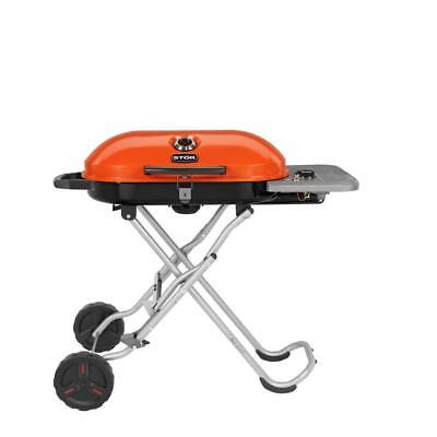 (Portable Orange Gridiron 348 sq. in. 1-Burner Gas Grill with Insert System)