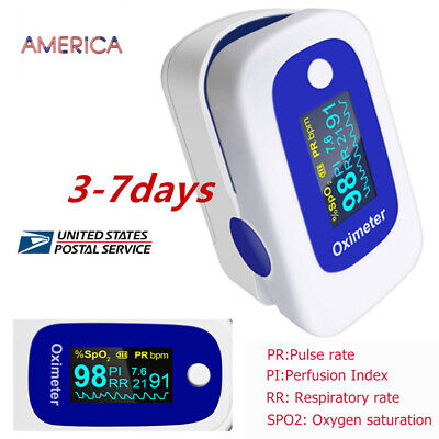 Oled Fingertip Pulse Oximeter Spo2 Pr Pi Respiration Rate 4parameter Spo2 Fda Ce