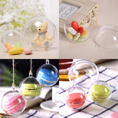 20pcs Christmas Clear Ball Baubles Fillable Clear Box Xmas Tree Decor - Clear Fillable Christmas Ornaments