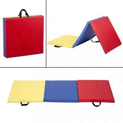 6'x2' Exercise Tri-Fold Gym Mat For Gymnastics Panel  Fitness Exercise Mat GM63