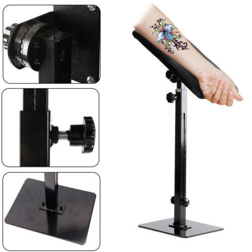 Tattoo Armrest Adjustable 68 100cm Foam Pad Arm Bar Leg Rest Studio