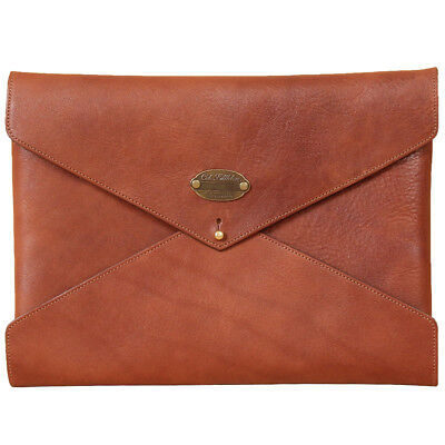 Leather Notepad Folder Envelope Style Business Pocket Brown Usa Made Emissary